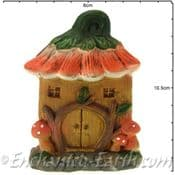 Rustic Flat Backed  Fairy Garden house -  Two to choose from