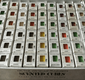 Scented Cubes - Box 8 Premium Palm Oil Melts -10 Fresh Clean Scents to Choose