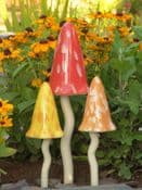 Set of 3 Fairy Tinkling Toadstools (Bright Shades)