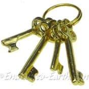 Set of Brass Miniature Fairy Door Keys