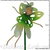 Snowdrop Fairy - Fairy Kingdom  - Metal Flying Fairy on 50cm  metal stake