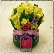 Solar LED Fairy House - Daffodil Cottage -  19cm