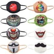 Spooky Reusable Face Covering - Fantasy Fun Masks - Double Layered - Face Mask