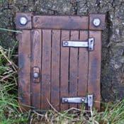 Square woodland Gnome Door - 9cm