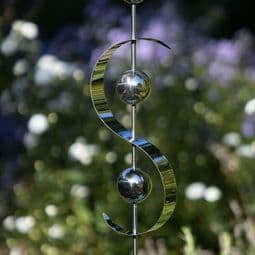 Stainless Steel Garden Stake -The Silver Wave  -117cm.