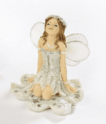 Star Dust Fairies - Pastel Mint Green Fairy with lace wings
