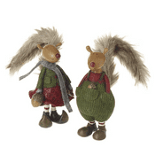 Super Cute Woodland  Acorn Squirrel, Two to choose from -  24cm