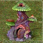 Tall Fairy Garden House- Fairy Tree Top Spa Resort - 25.5cm
