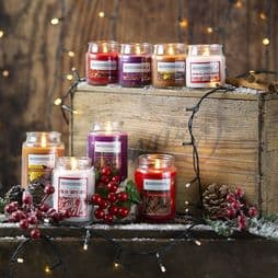 The Candle Factory - Scented  Christmas Candles - 4 to choose from - 5oz Jars - 12cm.