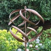 The Copper Sphere Wind Spinner - 208cm Tall