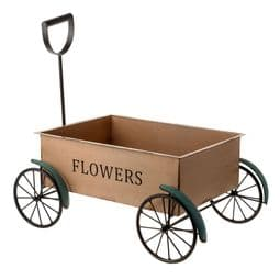 The Countryside Collection - Large Metal Garden Cart Planter -  53cm