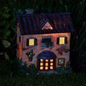 The Fairy Cafe - Solar - LED Colour changing Fairy House