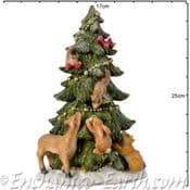 The Festive Woodland - Christmas Tree with animals - 25cm