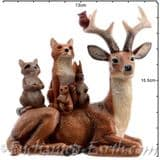 The Festive Woodland - Stag with animals - 15cm