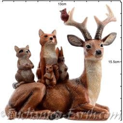 The Festive Woodland - Stag with animals - 15cm.
