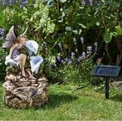 The Lily Flower Fairy Fountain - Solar Water Feature - 48cm