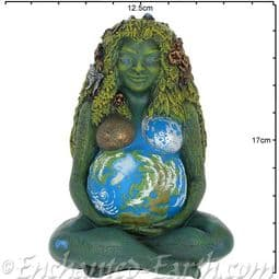 The Millennial Gaia - The Visionary Mother Earth Goddess  Sculpture - 17.5cm.