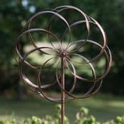 The Pemberley kinetic Wind Spinner - Brushed Copper - 213cm