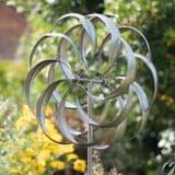 The Pemberley kinetic Wind Spinner - Silver- 213cm