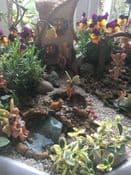 The Spring Garden (Made in a tall bird bath)
