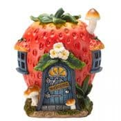 The Vegan Collection - LED Fairy House - Strawberry Patch  - 17.5cm