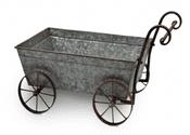 The Wickham Collection - Zinc Garden Cart Planter