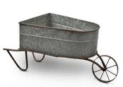 The Wickham Collection - Zinc Wheelbarrow Planter