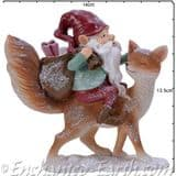 The Woodland  Christmas Gnome & Fox - 13cm