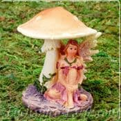 Toadstool Flower Fairy - Dusky Pink Dress -Peach Toadstool Top