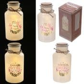 Trade Pack of 10 - Prosecco Bottles - Glass LED wishing jars
