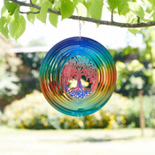 Tree of Life Rainbow Spinner -  Hanging Wind Spinner  - 12""