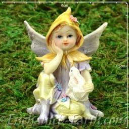 Vintage Flower Fairy -  Sadie with her Rabbit - Berry.