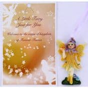 Vintage Style Hanging Fairy & Gift Card - A Little Fairy Just For You