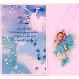 Vintage Style Hanging Fairy & Gift Card - For My Friend.