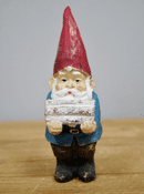 Vintage Style  - Winter Wood Collector Gnome -  13cm