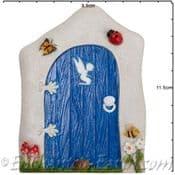 Vivid Arts - Miniature World - Blue Countryside Fairy Door