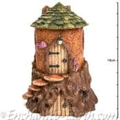 Vivid Arts-Miniature World - Fairy Woodland Tree Stump Cottage