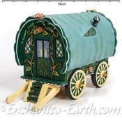 Vivid Arts-Miniature World - Gypsy Caravan - Green Fronted