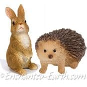 Vivid Arts - Miniature World - Hedgehog & Rabbit Set