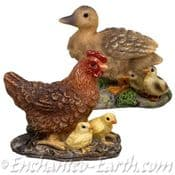 Vivid Arts Miniature World Hen & Duck Set