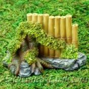 Vivid Arts- Miniature World - Japanese Miniature Garden- Fairy Garden Bamboo Fence Feature