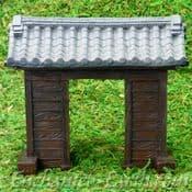 Vivid Arts- Miniature World - Japanese Miniature Garden- Temple Castle Gate -11cm
