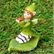 Vivid Arts - Miniature World - Kneeling Leaf Fairy