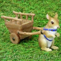 Vivid Arts-Miniature World- Magical Fairy Mouse with Cart.