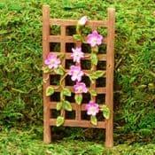 Vivid Arts - Miniature World- Miniature Garden- Mini Clematis Trellis