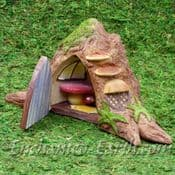Vivid Arts Miniature World - Opening Tree Trunk Fairy Door - 23cm