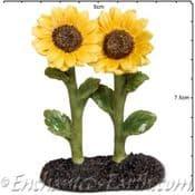 Vivid Arts Miniature World Pair of Bright Sunflowers