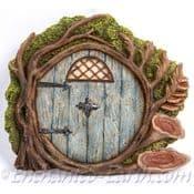 Vivid Arts - Miniature World - Round Woodland Burrow Door (Blue)
