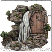 Vivid Arts - Miniature World -Troll  Waterfall - Rock Home