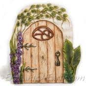 Vivid Arts - Miniature World - Washed Oak Fairy Door
